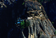 Perched on the steep hillside the Tak Tsang (Tiger's Nest) Monastery, Bhutan