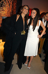 Left to right, DONNA KARAN and Actress LINDSAY LOHAN at the launch party for Donna Karan's new fragrance Gold held at the Donna Karan store, 19 New Bond Street, London on 16th November 2006.<br /><br />NON EXCLUSIVE - WORLD RIGHTS