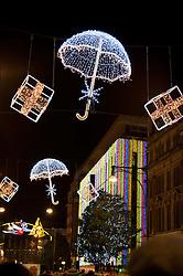 Oxford Street Christmas Lights, Oxford Street, London, United Kingdom, November 5, 2012. Photo by Nils Jorgensen / i - Images.