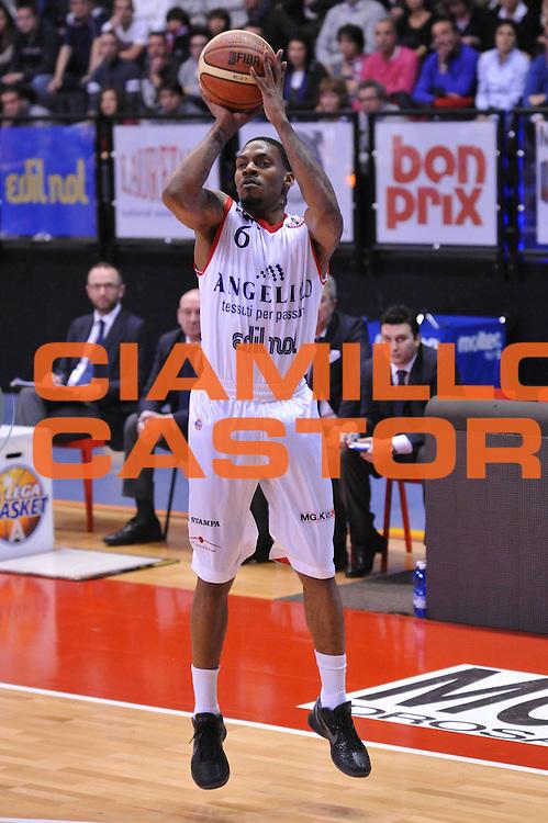 DESCRIZIONE : Biella Lega A 2011-12 Angelico Biella Acea Roma<br /> GIOCATORE : Aubrey Coleman<br /> SQUADRA : Angelico Biella<br /> EVENTO : Campionato Lega A 2011-2012<br /> GARA : Angelico Biella Acea Roma<br /> DATA : 25/01/2012<br /> CATEGORIA : Tiro<br /> SPORT : Pallacanestro<br /> AUTORE : Agenzia Ciamillo-Castoria/S.Ceretti<br /> Galleria : Lega Basket A 2011-2012<br /> Fotonotizia : Biella Lega A 2011-12 Angelico Biella Acea Roma<br /> Predefinita :