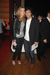 KIM HERSOV and BARRY REIGATE at a party hosted by gallery Haunch of Venison to celebrate Harry Blain's 40th birthday held at Sketch, 9 Conduit Street, London W1 on 10th October 2007.<br />