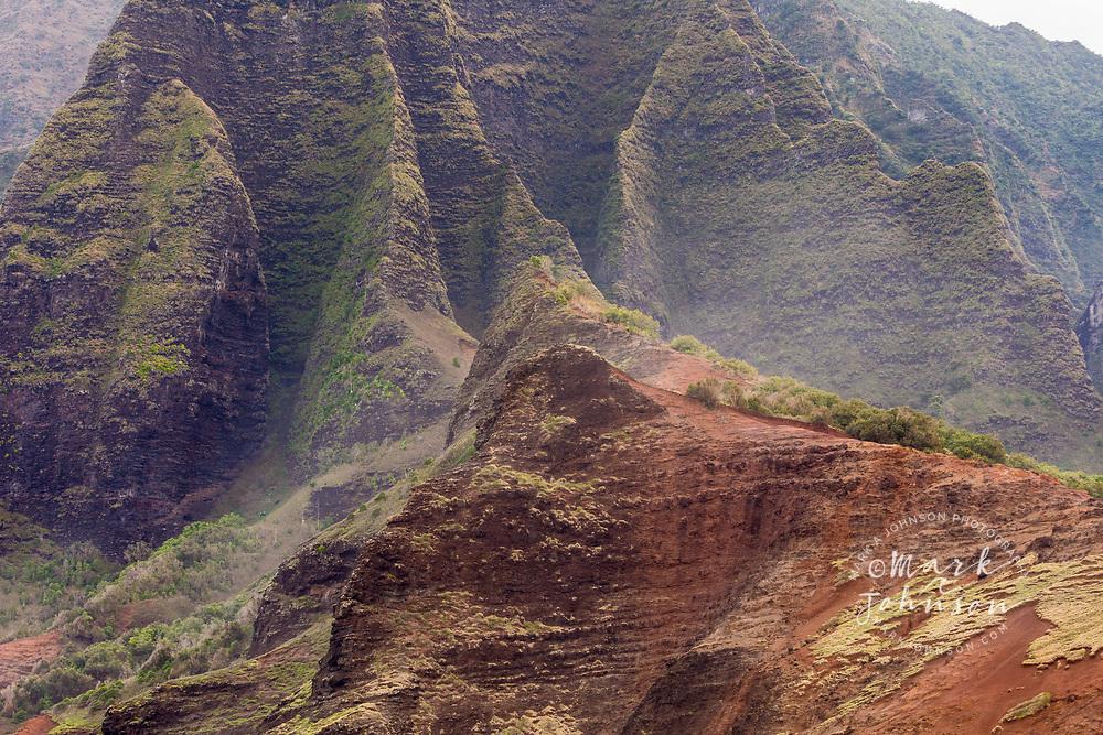 The majestic cliffs and mountains of the Na Pali Coast, Kauai, Hawaii