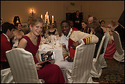 HARRIET AINSWORTH; ADE ADIGUN; PRINCE OF ISEYIN, The St. Petersburg Ball. In aid of the Children's Burns Trust. The Landmark Hotel. Marylebone Rd. London. 14 February 2015. Less costs  all income from print sales and downloads will be donated to the Children's Burns Trust.