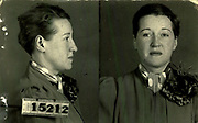 Prostitutes And Madams: Mugshots From When Montreal Was Vice Central<br /> <br /> Montreal, Canada, 1949. Le Devoir publishes a series of articles decrying lax policing and the spread of organized crime in the city. Written by campaigning lawyer Pacifique 'Pax' Plante (1907 – 1976) and journalist Gérard Filion, the polemics vow to expose and root out corrupt officials.<br /> <br /> With Jean Drapeau, Plante takes part in the Caron Inquiry, which leads to the arrest of several police officers. Caron JA's Commission of Inquiry into Public Morality began on September 11, 1950, and ended on April 2, 1953, after holding 335 meetings and hearing from 373 witnesses. Several police officers are sent to prison.<br /> <br /> During the sessions, hundreds of documents are filed as evidence, including a large amount of photos of places and people related to vice.  photos of brothels, gambling dens and mugshots of people who ran them, often in cahoots with the cops – prostitutes, madams, pimps, racketeers and gamblers.<br /> <br /> Photo shows: Anna Labelle, alias Mme Émile Beauchamp, 1939 .Anna Labelle, aka Ms. Émile Beauchamp, was the most powerful brothel keeper in Montreal during the Second World War. Arrested for the last time in 1939, she went regularly to the courthouse in her Cadillac, wrapped in a mink, to free her managers. The story tells that she receives police officers every week from her rich home in 219 Sherbrooke West.<br /> ©Archives de la Ville de Montréal/Exclusivepix Media