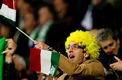 Fans of Italy during EURO 2012 Quaifications game between National teams of Slovenia and Italy, on March 25, 2011, SRC Stozice, Ljubljana, Slovenia. Italy defeated Slovenia 1-0.  (Photo by Vid Ponikvar / Sportida)