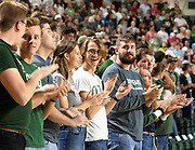 Students cheer during the 2019 First Year Student Convocation. Photo by Hannah Ruhoff
