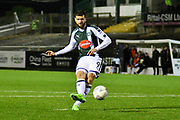 Nadir Ciftci (9) of Plymouth Argyle scores the winning penalty in the penalty shoot-out after a 2-2 draw at full time during the EFL Trophy match between Plymouth Argyle and Exeter City at Home Park, Plymouth, England on 3 October 2017. Photo by Graham Hunt.