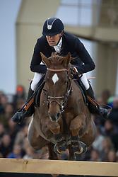 Delestre Simon (FRA) - Ryan des Hayettes<br /> Longines Global Champions Tour of Antwerpen 2014<br /> © Dirk Caremans