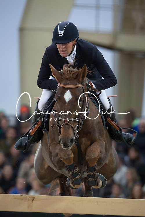 Delestre Simon (FRA) - Ryan des Hayettes<br /> Longines Global Champions Tour of Antwerpen 2014<br /> © Dirk Caremans