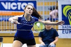 Petra Polanc of Slovenia in blue shirts during Victor Slovenia future series badminton turnir in Brezice, 24. November, 2019, Slovenia. Photo by Grega Valancic / Sportida