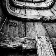 Boat hull at a home in Vaddukoddai. 16x16