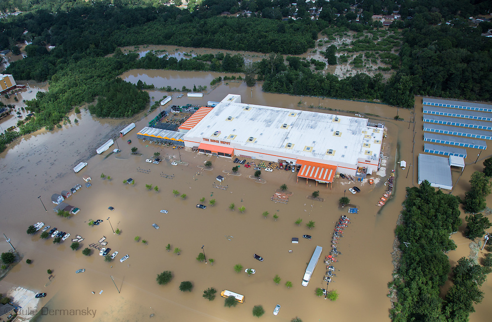 Aug 15, Flooding Home Depot in Denham Springs, in Livingston Parrish Louisiana.