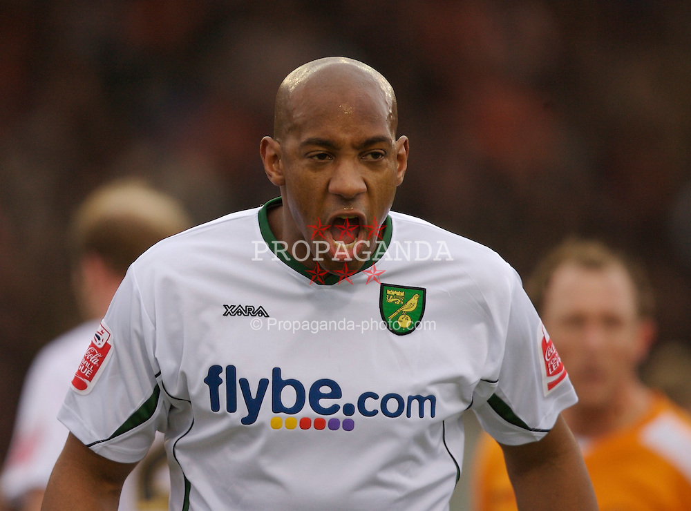 Blackpool, England - Saturday, January 27, 2007: Norwich City's Dion Dublin in action against Blackpool during the FA Cup 5th Round match at Bloomfield Road. (Pic by David Rawcliffe/Propaganda)