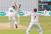 Colin Ackemann survives an LBW appeal from Ben Sanderson during the Specsavers County Champ Div 2 match between Leicestershire County Cricket Club and Northamptonshire County Cricket Club at the Fischer County Ground, Grace Road, Leicester, United Kingdom on 12 September 2019.