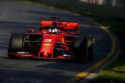 March 17, 2019 - Melbourne, Australia - Motorsports: FIA Formula One World Championship 2019, Grand Prix of Australia, ..#5 Sebastian Vettel (GER, Scuderia Ferrari Mission Winnow) (Credit Image: © Hoch Zwei via ZUMA Wire)