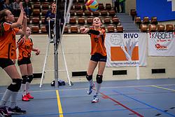 31-03-2018 NED: Finale D Volleybaldirect Open, Beverwijk<br /> 16 teams van meisjes en jongens D streden om het Nederlands Kampioenschap / Rivo vs. Orion