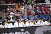 Panchina Betaland, EA7 Emporio Armani Milano vs Betaland Capo D'Orlando- 18 giornata Campionato LBA 2017/2018, Mediolanum Forum Milano 4 febbraio 2018 - foto Bertani/Ciamillo