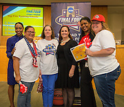 Browning Elementary School is recognized during the reveal of the 32 finalists in the Houston ISD NCAA Read to the Final Four, November 11, 2015.