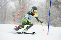 Francis Piche Slalom U14 Mens Sunday, March 15, 2015.  Karen Bobotas Photographer