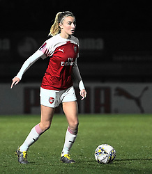 February 20, 2019 - Borehamwood, Hertfordshire, United Kingdom - Leah Williamson of Arsenal during the FA Women's Super League football match between Arsenal Women and Yeovil Town L.F.C.at Meadow Park on February 20, 2019 in Borehamwood, England. (Credit Image: © Action Foto Sport/NurPhoto via ZUMA Press)