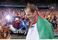 6 July 2013; Alun Wyn Jones, British & Irish Lions, following his side's victory. British & Irish Lions Tour 2013, 3rd Test, Australia v British & Irish Lions. ANZ Stadium, Sydney Olympic Park, Sydney, Australia. Picture credit: Stephen McCarthy / SPORTSFILE
