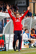 Gareth Ainsworth , Manager of Wycombe Wanderers appeals for a free-kick during the Sky Bet League 2 match at Adams Park, High Wycombe<br /> Picture by David Horn/Focus Images Ltd +44 7545 970036<br /> 18/04/2014