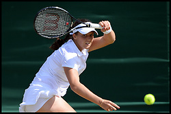 Laura Robson playing against Marina Erakovic at<br /> The All England Lawn Tennis Club, Wimbledon, United Kingdom<br /> Saturday, 29th June 2013<br /> Picture by Andrew Parsons / i-Images