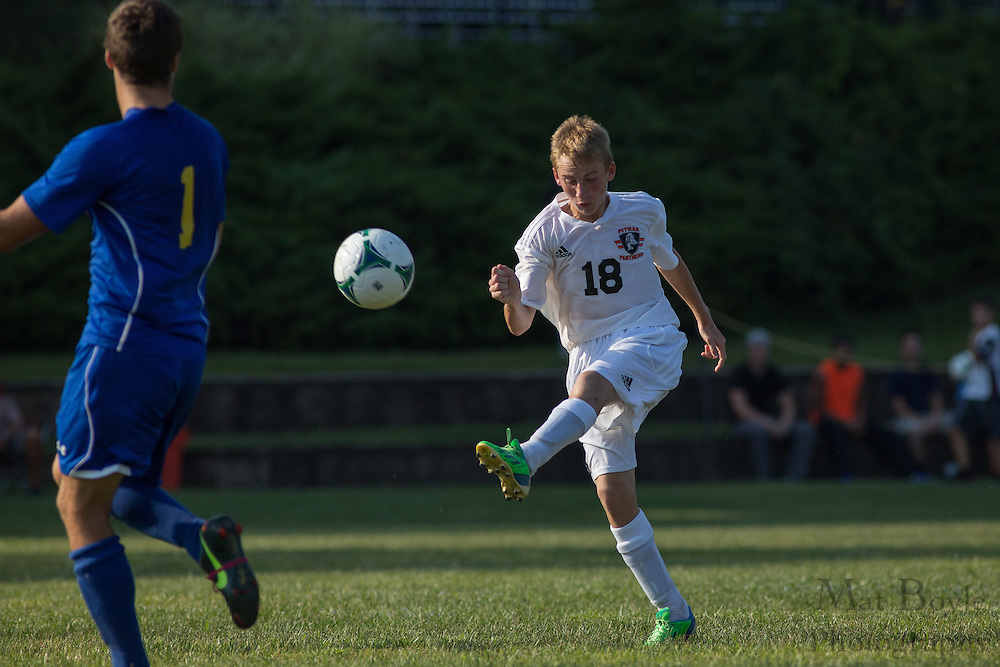 Pitman Boy's Soccer vs Pennsville Memorial High School at Alcyon Park in Pitman, NJ on Wednesday September 11, 2013. (photo / Mat Boyle)