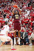 BLOOMINGTON, IN - JANUARY 12: Austin Hollins #20 of the Minnesota Golden Gophers shoots a three-pointer against the Indiana Hoosiers at Assembly Hall on January 12, 2012 in Bloomington, Indiana. Minnesota defeated Indiana 77-74. (Photo by Joe Robbins)
