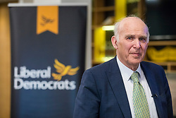 © Licensed to London News Pictures. 04/04/2018. Watford, UK. Sir Vince Cable launches the Liberal Democrat election campaign. Photo credit: Rob Pinney/LNP