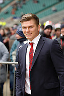 Picture by Andrew Tobin/Focus Images Ltd +44 7710 761829.10/03/2013.  Owen Farrell of England sidelined by injury looks on before the RBS 6 Nations match at Twickenham Stadium, Twickenham.