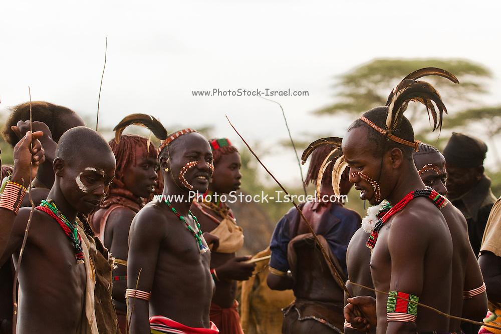 Africa, Ethiopia, Omo River Valley Hamer Tribe Men