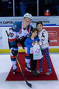 KELOWNA, CANADA - JANUARY 04: Third Star of the Game Conner Bruggen-Cate #20 of the Kelowna Rockets at the Kelowna Rockets game on January 04, 2019 at Prospera Place in Kelowna, British Columbia, Canada. (Photo By Cindy Rogers/Nyasa Photography, *** Local Caption ***