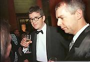 Jay Jopling and Neil Tennant. Turner prize. Tate. 11/28/96. © Copyright Photograph by Dafydd Jones 66 Stockwell Park Rd. London SW9 0DA Tel 020 7733 0108 www.dafjones.com