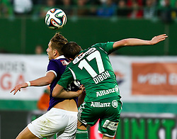 09.11.2014, Ernst Happel Stadion, Wien, AUT, 1. FBL, SK Rapid Wien vs FK Austria Wien, 15. Runde, im Bild Alexander Gruenwald (FK Austria Wien) und Christopher Dibon (SK Rapid Wien) // during a Austrian Football Bundesliga Match, 15th Round, between SK Rapid Vienna and FK Austria Vienna at the Ernst Happel Stadion, Wien, Austria on 2014/11/09. EXPA Pictures © 2014, PhotoCredit: EXPA/ Alexander Forst