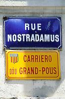 France - Provence - Bouche du Rhone - St. Rémy de Provence - Rue Nostradamus