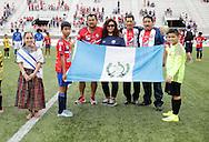 August 27, 2016: Xelaju MC, first-division team from Guatemala, and Selección Centro Americana de Oklahoma, of the LASLOI league, play an exhibition match prior to the OKC Energy FC match at Taft Stadium in Oklahoma City, Oklahoma.