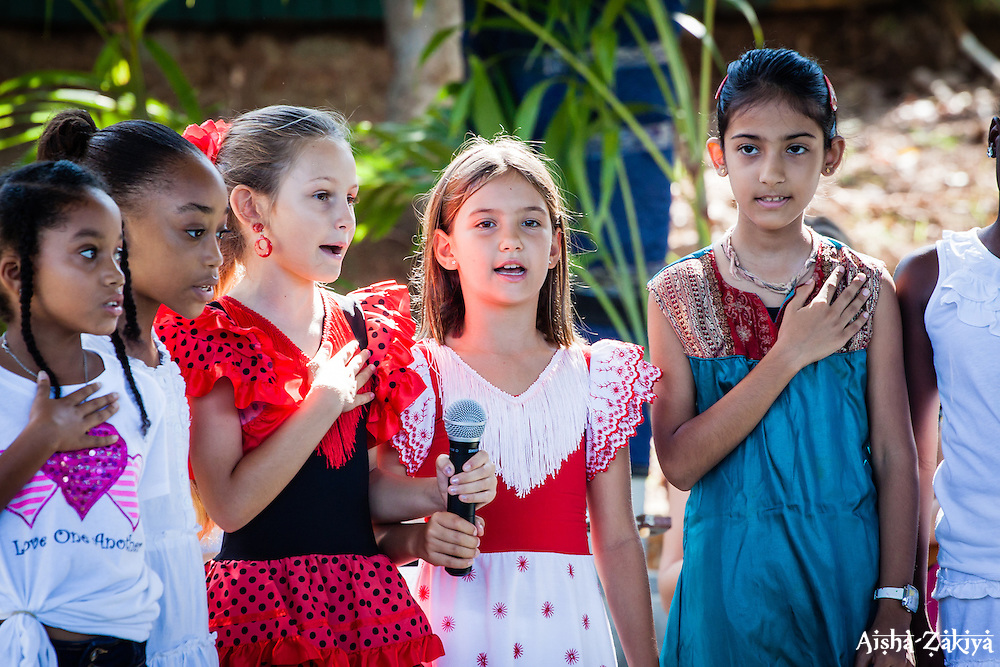 """Hello to All the Children of the World"", performed by Ms. Vadha Rajaratnam's class.  2012 Peace Day Celebration.  VI Montessori School and International Academy.  21 September 2012.  © Aisha-Zakiya Boyd"