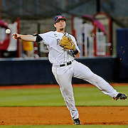 Mississippi third baseman Austin Anderson (8) fields the ball during an NCAA college baseball game against Georgia in Oxford, Miss., Friday, May 9, 2014. (Photo/Thomas Graning)