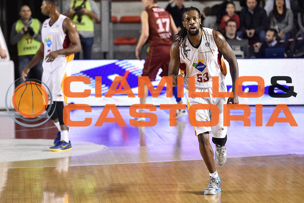 DESCRIZIONE : Campionato 2014/15 Virtus Acea Roma - Umana Reyer Venezia<br /> GIOCATORE : Ndudi Ebi<br /> CATEGORIA : Ritratto Esultanza<br /> SQUADRA : Virtus Acea Roma<br /> EVENTO : LegaBasket Serie A Beko 2014/2015<br /> GARA : Virtus Acea Roma - Umana Reyer Venezia<br /> DATA : 01/02/2015<br /> SPORT : Pallacanestro <br /> AUTORE : Agenzia Ciamillo-Castoria/GiulioCiamillo<br /> Predefinita :