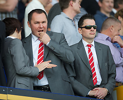 LIVERPOOL, ENGLAND - Saturday, October 1, 2011: Liverpool's xxxx and operations director Andrew Parkinson during the Premiership match against Everton at Goodison Park. (Pic by David Rawcliffe/Propaganda) xxxx