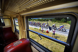 July 14, 2018 - Amiens Metropole, FRANCE - Illustration picture shows the pack of riders in action during the eighth stage of the 105th edition of the Tour de France cycling race, from Dreux to Amiens Metropole (181 km), in France, Saturday 14 July 2018. This year's Tour de France takes place from July 7th to July 29th. BELGA PHOTO YORICK JANSENS (Credit Image: © Yorick Jansens/Belga via ZUMA Press)