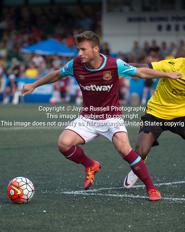 HKFC Citibank Soccer sevens Cup final Aston Villa vs West Ham United. Aston Villa take the cup. West Ham's Noha Sylvestre