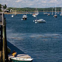A harbor scene in Castine, Maine.