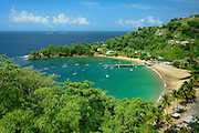 Parlatuvier Bay on north coast of Tobago island, Trinidad and Tobago.