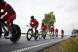 Norwegian national team at Ladies Tour of Norway 2018 Team Time Trial, a 24 km team time trial from Aremark to Halden, Norway on August 16, 2018. Photo by Sean Robinson/velofocus.com