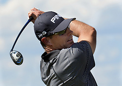 September 13, 2017 - U.S. - SPORTS -- DJ Brigman of Albuquerque tees off on the hole 1 during the New Mexico Open golf tournament on Wednesday, September 13, 2017. (Credit Image: © Greg Sorber/Albuquerque Journal via ZUMA Wire)