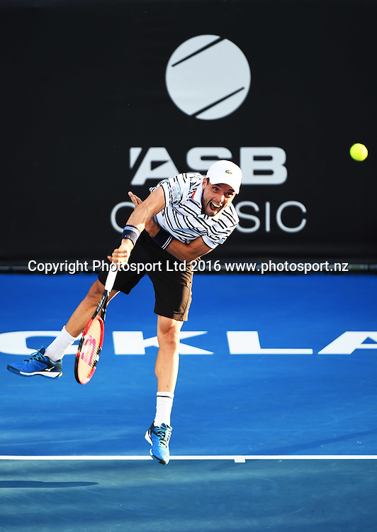 Roberto Bautista Agut from Spain during Day 5 Semi Finals of the 2016 ASB Classic Mens. ASB Tennis Centre, Auckland, New Zealand. Friday 15 January 2016. Copyright Photo: Chris Symes / www.photosport.nz