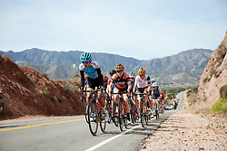 Carolina Rodriguez Gutierrez (MEX) leads the second group on the road at Amgen Tour of California Women's Race empowered with SRAM 2019 - Stage 3, a 126 km road race from Santa Clarita to Pasedena, United States on May 18, 2019. Photo by Sean Robinson/velofocus.com