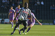 Notts County midfielder Stanley Aborah during the Sky Bet League 2 match between Notts County and Plymouth Argyle at Meadow Lane, Nottingham, England on 11 October 2015. Photo by Simon Davies.